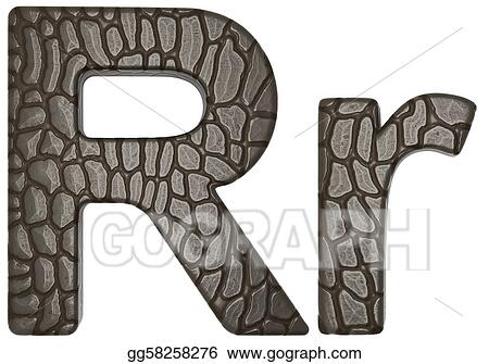 Stock Illustration Alligator Skin Font R Lowercase And Capital