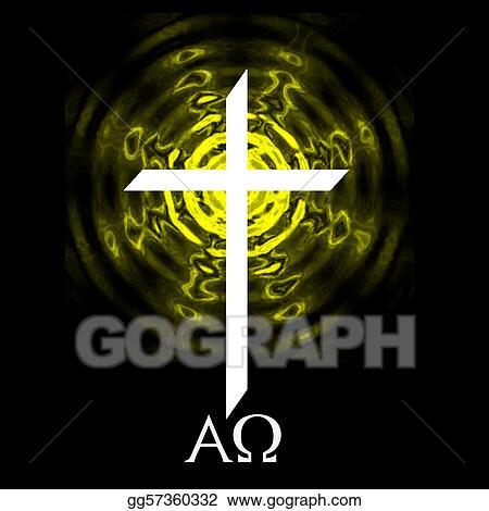 Stock Illustration Alpha Omega Cross Clip Art Gg57360332 Gograph