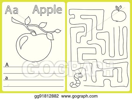 Vector Art - Alphabet a-z - puzzle worksheet, exercises for kids ...