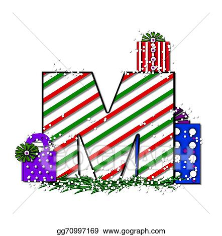 Stock Illustration Alphabet Chrimassy Letters M Clipart Drawing