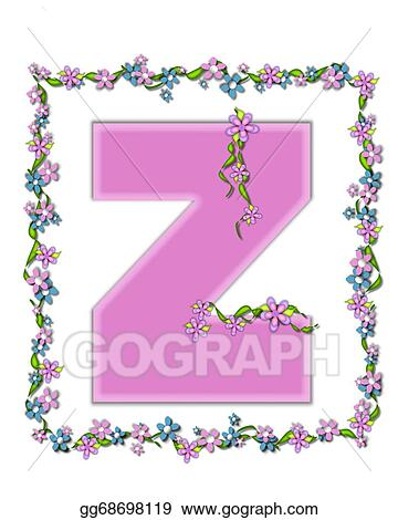 Stock illustration alphabet daisy fair pink z clip art gg68698119 stock illustration the letter z in the alphabet set daisy fair pink is a soft pastel shade of lilac garland of ivy and flowers covers outline of spiritdancerdesigns Image collections