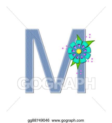 Stock Illustration Alphabet Denim Dandy M Clipart Gg88749046