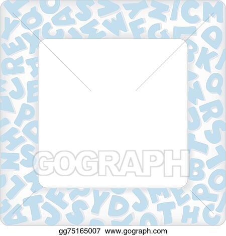 Vector illustration alphabet frame baby blue pastel stock clip alphabet frame baby blue pastel solutioingenieria Gallery