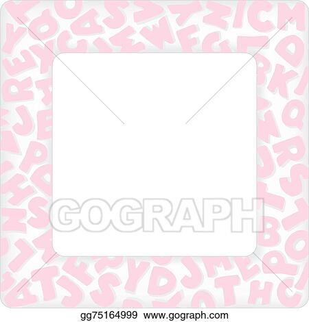 Vector art alphabet frame baby pink pastel eps clipart alphabet frame baby pink pastel solutioingenieria Gallery