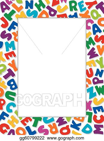 Vector clipart alphabet frame white background vector literacy back to school announcements posters fliers stationery scrapbooks albums do it yourself projects vector illustration gg60799222 solutioingenieria Images