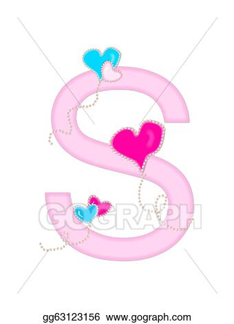 Stock Illustration  Alphabet heart of valentine s Clipart