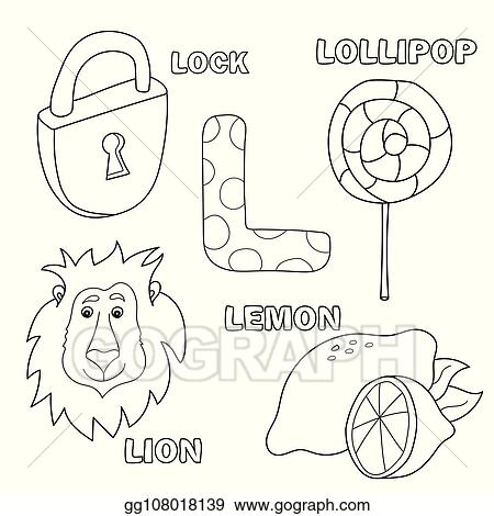 - Vector Illustration - Alphabet Letter With Alphabet Letters L. Pictures Of  The Letter - Coloring Book. Stock Clip Art Gg108018139 - GoGraph