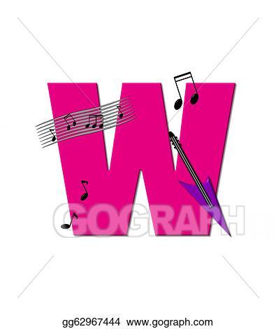 stock illustration alphabet musical ww clipart gg62967444 gograph