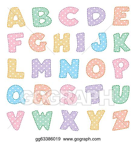 Vector stock alphabet pastels with polka dots stock clip art vector stock original alphabet design in pastels with white polka dots for crafts scrapbooks back to school do it yourself projects baby albums eps8 solutioingenieria Gallery