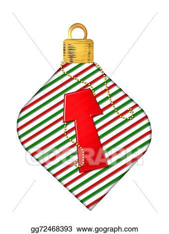 alphabet pinstripe ornament t