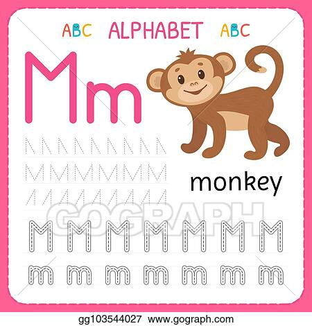ABC Alphabet letters tracing worksheet with alphabet letters. Basic writing  practice for kindergarten kids A4 paper ready to print vector Clipart    k65302724   Fotosearch