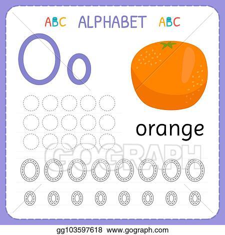 Vector Stock - Alphabet Tracing Worksheet For Preschool And Kindergarten. Writing  Practice Letter O. Exercises For Kids. Clipart Illustration Gg103597618 -  GoGraph