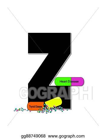 Stock Illustration Alphabet Wellness Check Z Clipart Gg88749068