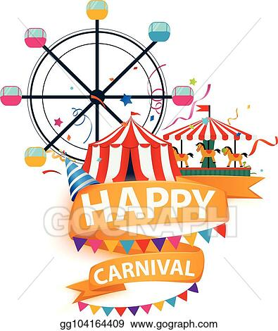 vector art amazing funfair and carnival background clipart