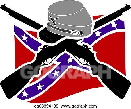 stock illustration american civil war confederacy clipart rh gograph com confederate clipart Confederate Graphics