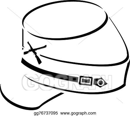 vector art american civil war kepi clipart drawing gg76737095 rh gograph com civil war clipart gallery civil war clipart black and white