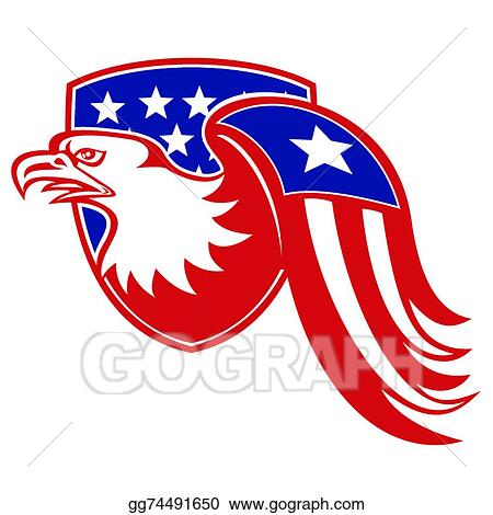 Eps Vector American Eagle Flag Wing Stock Clipart Illustration