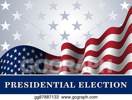 Vector Stock - American flag background presidential