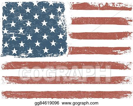 3cc4d9a1c869 American Flag Grunge Background. Vector Template. Horizontal orientation.