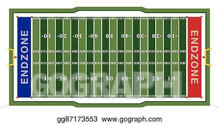 Vector Art American Football Field Illustration Clipart Drawing Gg87173553 Gograph