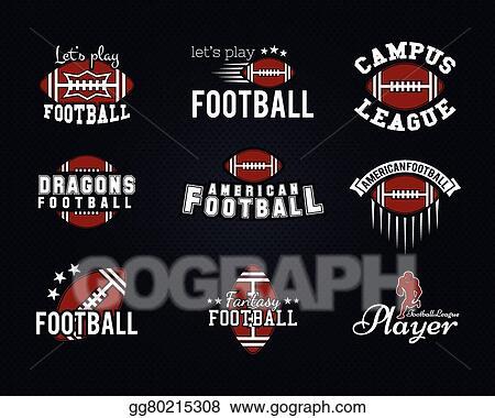 Clip Art Vector American Football Team College Badges