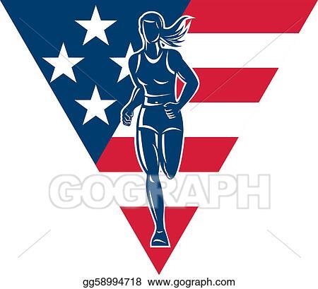 stock illustrations american marathon runner stars stripes stock rh gograph com stars and stripes images clipart stars and stripes banner clipart