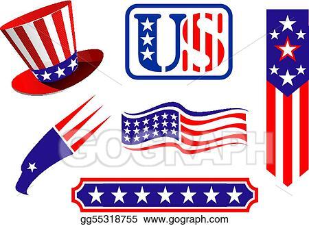 Vector Stock American Patriotic Symbols Clipart Illustration