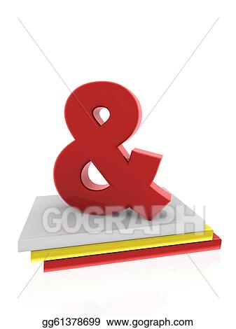 Stock Illustration - Ampersand symbol on books  Stock Art