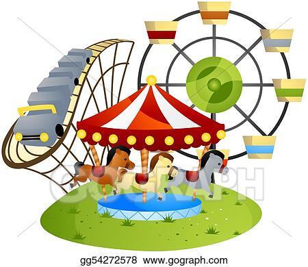 stock illustration amusement park clip art gg54272578 gograph rh gograph com amusement park clip art free amusement park clip art free