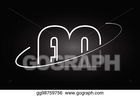Vector Art An A N Letter Alphabet Logo Black White Icon Design