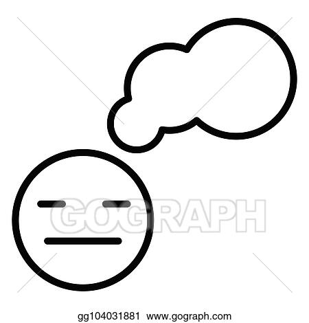 Eps Vector An Indifferent Smiley And Interactive Cloud Stock