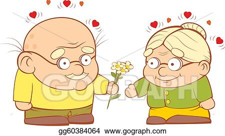 vector art an old couple in love clipart drawing gg60384064 gograph rh gograph com old couple clipart free old couple clipart black and white
