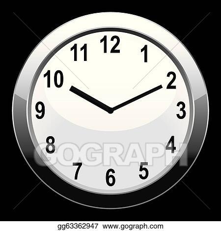 Vector Art - Analog clock  Clipart Drawing gg63362947 - GoGraph