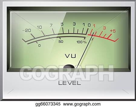 EPS Vector - Analog signal vu meter vector  Stock Clipart