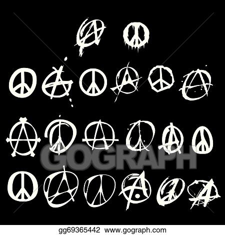 Vector Clipart Anarchy And Peace Symbol Logo Vector Illustration