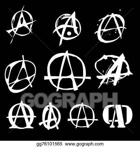 Clip Art Vector Anarchy Symbol Logo Stock Eps Gg76101565 Gograph