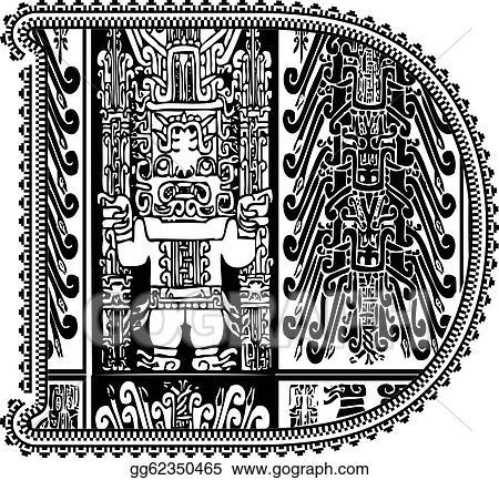 Vector Art Ancient Letter D Vector Illustration Eps Clipart