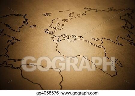 Stock illustration ancient world map stock art illustrations ancient world map gumiabroncs Choice Image