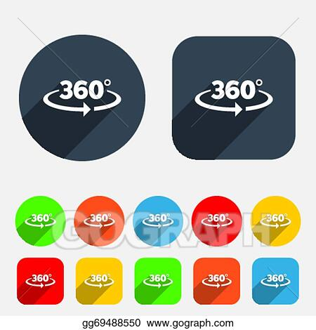 Clip Art Vector Angle 360 Degrees Sign Icon Geometry Math Symbol