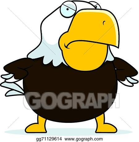 vector art angry cartoon bald eagle clipart drawing gg71129614 rh gograph com cartoon eagle clip art black and white cartoon eagle clipart