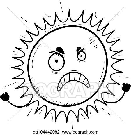 vector stock angry cartoon sun clipart illustration gg104442082 Fall Clip Art angry cartoon sun
