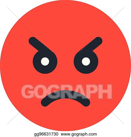 EPS Vector - Angry emoji  Stock Clipart Illustration
