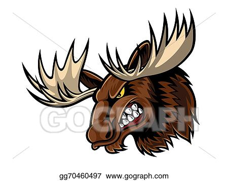 شيخ عربي يحدث طلابه Angry-moose-head_gg70460497