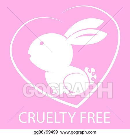 Vector Illustration Animal Cruelty Free Icon Design Animal