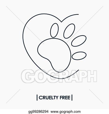 Clip Art Vector Animal Cruelty Free Logo Stock Eps Gg99286294