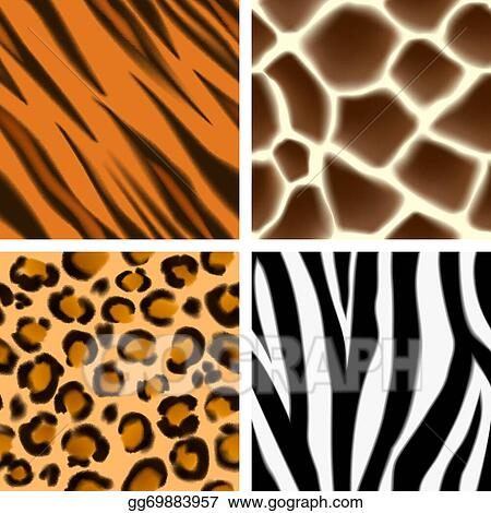 vector stock animal print seamless patterns clipart illustration rh gograph com animal print numbers clipart animal paw print clipart