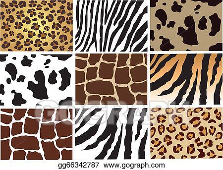 Vector Line Art Animals : Clip art vector animal skin stock eps gg gograph