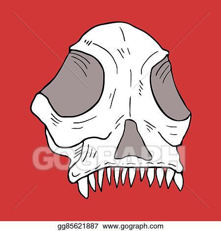 vector art animal skull draw eps clipart gg85621887 gograph