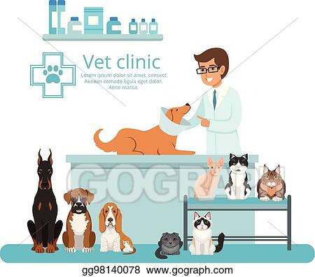 Eps Illustration Animals In Cabinet Of Vet Hospital