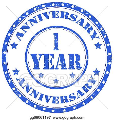 One Year Anniversary Clip Art Royalty Free Gograph